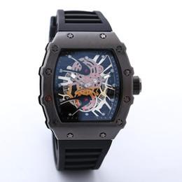 Oval relógios homens on-line-2018New marca de luxo crânio esporte relógios homens moda casual Skeleton quartz watch frete grátis Monro Homme SPROT relógio