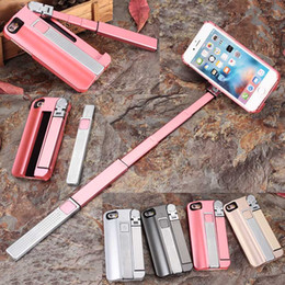 Wholesale Monopod Case - Selfie Stick & Phone Cases 2 in 1 for iPhone 7 Plus Cover with Monopod Wireless Zoom for iPhone 6 S Plus New Brand Autodyne Case