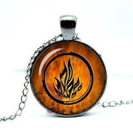 Wholesale Emblems Chain - 10pcs lot Divergent inspire Dauntless emblem Be Brave Dauntless sigil divergent I am Divergent Glass Photo Cabochon Necklace