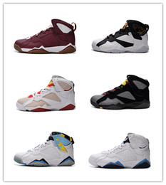 Wholesale Cheap Waterproof Shoes China - hot sale high quality men women cheap china air 7 j vii retro basketball shoes 7s man woman sneaker many color mix