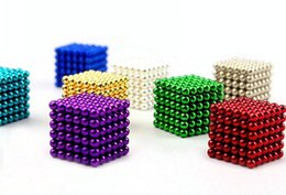 Wholesale Genuine Gold mm Neocube Balls Magnetic Neodymium Cube Magnet Balls Magnetic Bukeyballs DHL free