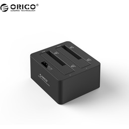 Wholesale Hdd Dock Orico - Wholesale- ORICO 6629S3-V1 2 Bay SuperSpeed USB3.0 to SATA I II III Hard Drive Docking Station with Clone Function for 2.5 3.5 HDD and SSD