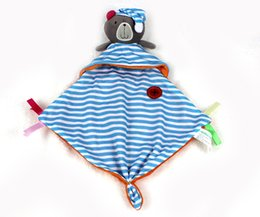 Wholesale Wholesale Crap - Wholesale- Top 20cm Baby Toys bule bear Scarf Handkerchief appease Towel Rattles Crap Doll Gift For Soothe Calm Towel Educational Plush T