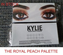 Wholesale Pen Shadow Eyes - 2017 Newest kylie Jenner 12 Color Royal Peach Palette Eyeshadow Including pen brush& Eye shadow Palette Kyshadow kit DHL free