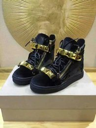 Wholesale After School - 2017 New Black Serpentine High school help Sneaker Snake Patten Zanottys Sports Men's Shoes Women Lace-up after the double-chain decoration