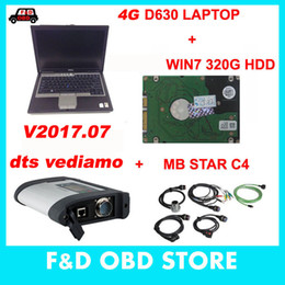 Wholesale Mb Star C4 Hdd - MB SD Connect Compact 4 Star C4 Diagnosis V2017.7 HDD Plus 4G D630 Laptop Software Installed Ready to Use DAS XENTRY MB Star C4