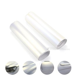 Wholesale Style Gradual - 152*30CM Vinyl Car Motorcycle Wrapping Foil Decoration Chameleon Stickers Car Styling Waterproof White Gradual Change Blue Gold