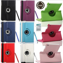 Wholesale Ipad Cover Rotating - 360 Rotating leather case Smart cover For iPad pro 10.5 9.7 air3 air 2 3 4 5 6 7 Mini 4 Rotary Stand