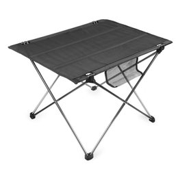 Wholesale Foldable Outdoor Tables - Free Shipping Oxford Fabric Portable Camping Table Outdoor Aluminium Alloy Ultralight Foldable Table for Camping Hiking Picnic