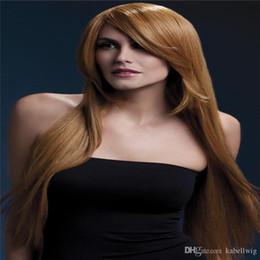 hair color light brown Australia - Full Lace Human Hair Wigs Silk Brazilian Hair 100% Straight Silky Hair Wigs Girl Who All The Bud Silk Wig Color Light Brown Black Women