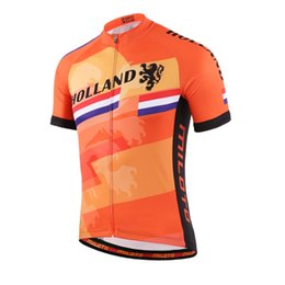 Wholesale Bicycle Wear Men - HOLLAND Pro MTB miloto men summer cycling jersey short sleeve quick dry cycling clothing bicycle racing Ciclismo bike wear