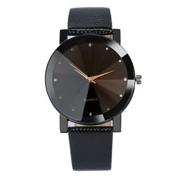Wholesale Womens Black Dial Leather Watch - Luxury brand Unisex watch men popular womens watches fashion Quartz Stainless Steel Dial Leather Band Wrist Watch Sport casual