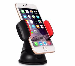 Wholesale Iphone 4s Car - New Universal Car Windshield Mount Holder Phone Car Holder For iPhone 4S 5C 5S 6S MP3 iPod Samsung HTC GPS Tracker