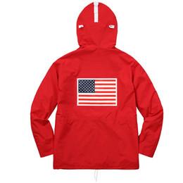 Wholesale waist coats men - Pullover Jacket Men Women Coats Fashion Flag Outerwear Top Quality Black Army Green S~XL HFYRF004