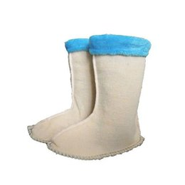 Wholesale Thick Leather Fabric Wholesale - Wholesale-2016 New Hot Sale Shoes Woman The Winter Warm Thick Lamb Short Long Canister Boots And Socks Liner Comfortable Accessories