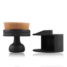 2019 pinceles de maquillaje tipos de cabello 1 unids Tipo de Sello Fundación Maquillaje Cepillo de Plátano de Plata de Oro de Oro Mango de Plástico a prueba de Polvo de Moda Pinceles de Maquillaje Portátil Herramientas Cosméticas rebajas pinceles de maquillaje tipos de cabello