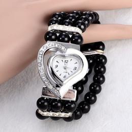 Wholesale Heart Ceramic Watch - atches Quartz Wristwatches 2017 New Brand Women Pearl Bracelet Watch Unique Design Heart Shape dial Fashion Ladies Dress watches relogio ...