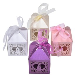Wholesale pretty virgins - Event Party Supplies 10pcs Candy Party Paper Bags Pretty Married Wedding Favor Box Gift Boxes