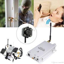 Cámara de seguridad micro visión nocturna online-Cámara de vídeo sin hilos de la mini cámara fotográfica inalámbrica de la mirilla cámara de CCTV de la seguridad del hogar de la niñera con el receptor 1.2GHz