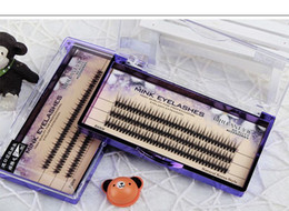 Wholesale Cluster Lashes - 0.07mm Ultra Soft New Individual Mink Eyelash Extension 120root Knot Free Cluster Eye Lashes Natural Makeup Tool