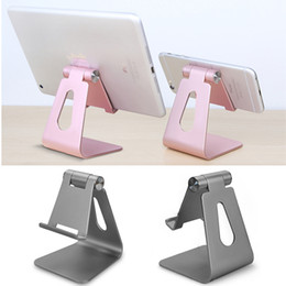 Wholesale Tablet Laptop Mount - Universal Aluminum Metal Phone Tablet Holder Luxury Desk Stand Mount for iPhone X 8 iPad Laptop Smartphone