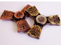 Wholesale Transformer Toy Wholesale - Newest Luxury Gyro Tri-spinner Transformer Hand Spinner EDC Torqbar Fidget Spinner Gifts Gag Toys Finger Spinner Decompression Toys Copper