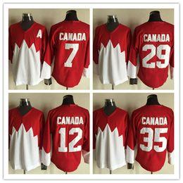 Wholesale Bobby Clarke Jersey - Embroidery Men's retro #21 #29 #4 BOBBY ORR #35 TONY ESPOSITO #28 BOBBY CLARKE 1972 Team CCM Vintage Jerseys Throwback Jersey