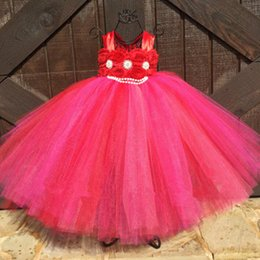 Wholesale Show Ankle Length For Dresses - Princess tutu dress in 6 colors Pageant dress celebration for girls in performance party show free shipping