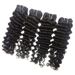 brazilian deep curly hair mix Coupons - Remy Brazilian Virgin Hair Weaves Deep Wave Curly Hair Weft 4Pcs Lot Mixed Length 12-26inch 100% Virgin Human Hair Extensions 100g pc Black