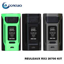 Wholesale Ecig Boxes - Wismec Reuleaux RX2 20700 200w Box Mod Powered by 20700  18650 Cells 510 Thread Mechanical Mods 100% Original ecig mods