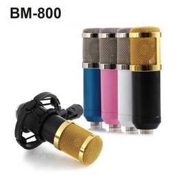 2018 estudios kit BM-800 Micrófono de grabación con cable de condensador dinámico Estudio de sonido con montaje de choque para el kit de grabación KTV Karaoke OTH330 estudios kit baratos