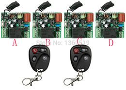 Wholesale Rf Radio Switch - Wholesale- NEW AC220V 1CH 10A Radio Controller RF Wireless Relay Remote Control Switch 315 MHZ 433 MHZ teleswitch 2 Transmitter +4 Receiv