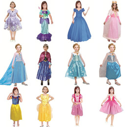Wholesale mermaid princess - 12 style Princess skirt kids girls Mermaid princess skirt Sophia Snow white princess dress Cosplay cloth