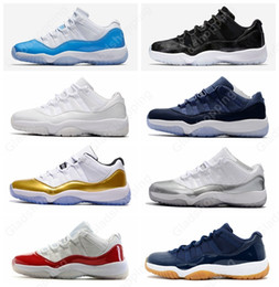 Wholesale Womens Basketball Shoes Size 11 - 11 Low GG Heiress Blue Moon Barons Universtiy Blue Womens Mens basketball shoes sneakers Cheap 11s basket ball Sports Shoes Size 8-13