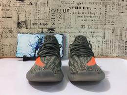 Wholesale Kids Rubber Socks - V2 Solared Kids Shoes Boost 350 V2 Kanye West Sply 350 Season 3 Youth Shoes Toddlers Shoes Original Box,receipt,Socks
