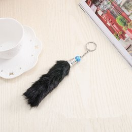 Wholesale Antique Small Key - The best selling hot style fur tail key chain small hanging pieces, the plush hang a small hanging decoration Plush dolls keychains