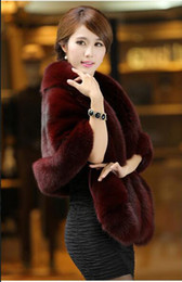 Wholesale White Womens Cape - Free Shipping New Womens Faux Fur Cape Cloak Coat Sleeveless Poncho Outwear Cardigan Fur Coat