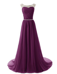 Wholesale Cheap Sequin Dresses China - Purple Chiffon Party Dresses 2017 Vestidos Elegantes Long Elegant Prom Dresses Cheap Evening Dresses Made in China