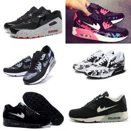 Wholesale Korean Summer Shoes Men - 2017 new Summer breathable sneakers Korean running shoes air cushion 90 shoes men Women shoes