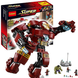 Wholesale Smash Toys - Decool 7110 Marvel Super Heroes Avengers The Hulk Buster Smash Building Block Set Iron Man Building Block Kids Toy