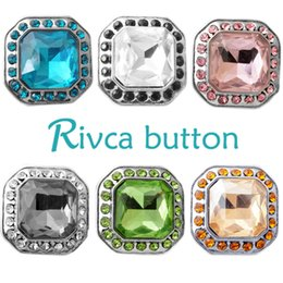 Wholesale Snake Chains Snap Clasp - D02705 Rivca Snap Button charms Jewelry High quality crystal 18mm Metal Noosa chunk Rhinestone Styles Ginger Snaps Bracelets For Women