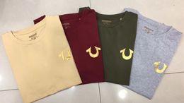 Wholesale Rock Shirt Mens - High quality summer brand jeans robins mens tshirts black white red blue color true cotton o-neck short rock men's t-shirts plus size M-XXXL