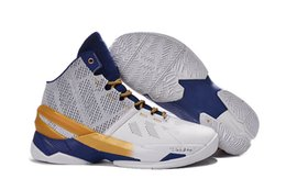 Wholesale Pu Rings - Free Shipping Mens Curry 2 Gold Rings Basketball Shoes