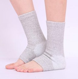 Wholesale Thermal Brace - Wholesale- 10pcs lot New Bamboo Charcoal Ankle Socks Thermal Ankle Support Care Cold-proof Anti Sprain Ankle Brace Socks 4-Way Stretch Ankl