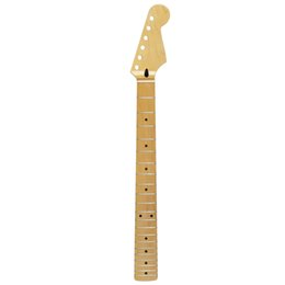 Wholesale Guitar Neck For Strat - High Quality 21 Frets Maple Guitar Neck Canadian Maple Gloss Satin For FD ST Strat Style Guitar Parts Replacement