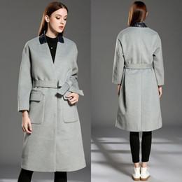 Wholesale Military Jacket Wool Woman - 2017 Women Winter Wool Coat New Fashion Jacket Women's Clothing Warm Outwear Long Jacket Coats Slim Trench Coat Military Coat