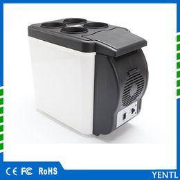 Wholesale Mini Refrigerator Portable Car Fridge - YENTL Mini Car Fridge 12V 6L Auto Travel Refrigerator ABS Cooler Freezer Warmer Portable Multi-Function Anti-Rotten Keep Cool for trip