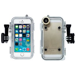 Wholesale Diving Clips - Luxury Waterproof Diving Case Watertight Shockproof Full Body Cover Underwater Diving Cases For iPhone 6 with 170 degree wide-angle lens