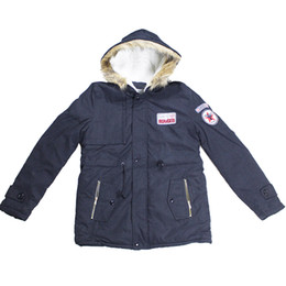 Wholesale Mens Fur Lined Parka - Wholesale- Free Shipping 1Kgs Mens fur Hooded Warm Cotton Velvet Lining Winter Down jacket Men Parka Outwear Coats