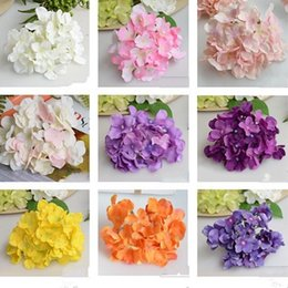 Silk flower arrangements online-1 4xt simulazione fai da te grande ortensia di seta per la disposizione dei fiori testa di fiore puro lavoro manuale sete ortensie latte bianco verde chiaro